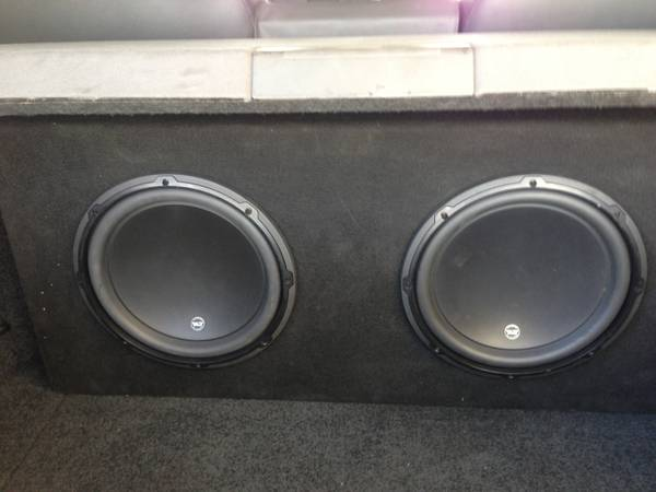 JL Audio Pair 12W3V3-4 Subwoofers in Custom Ported Box - $435 (West Monroe)