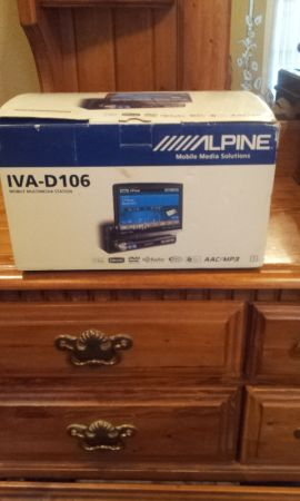 ALPINE IVA -D106 FLIP OUT TOUCH SCREEN DVD PLAYER ----CAR STEREO - $499 (WEST MONROE LA.)