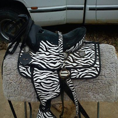 Zebra Print youth Saddle and Tack - $150 (Bastrop)