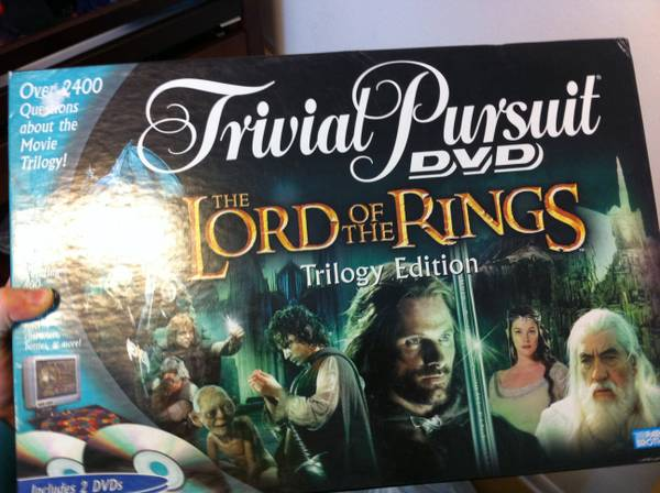 Trivial Pursuit DVD LOTR trilogy edition -   x0024 10  West monroe