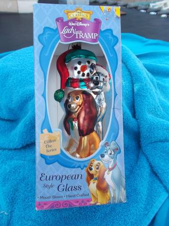 Disney s Lady  amp  the Tramp Best European Style Glass Ornament   WEST MONROE