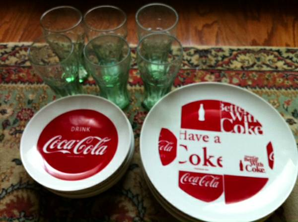 Vintage Coca-Cola China glasses - $55 (West Monroe, La)