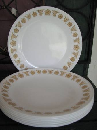Corelle Butterfly Gold Dishes-selling lot or separately - $10 (near neville h.s.)