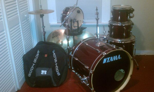REDUCED Tama Rockstar 5-Piece Drum Set  Drumset w Hardware - $625 (Ruston, LA)