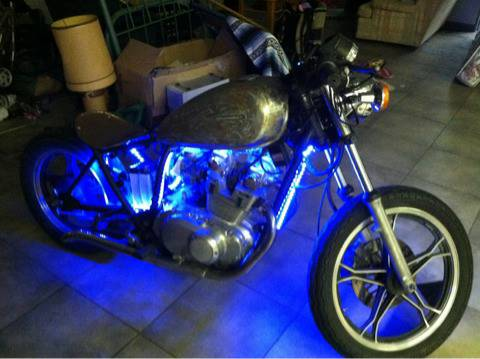 I want to trade my Suzuki gs450 bobber rat rod for a lawn mower - $1500 (Monroe)
