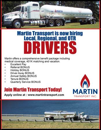Now Hiring Regional and OTR Drivers AVRG Pay $53 per year (Stephens, AR)
