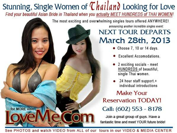 Tour for Singles You Extremely Wanted  Thailand