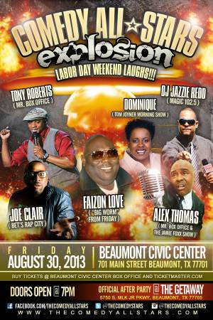 FAIZON LOVE COMING TO BEAUMONT  BEAUMONT CIVIC CENTER