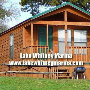 MODERN CABINS - deep water  boat ramp  slip rentals  indoor fishing  TX  Near I-35  Lake Whitney Marina