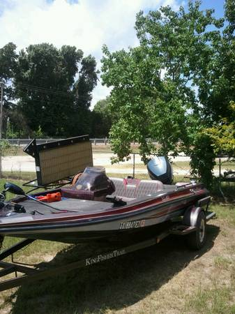 92 King Fisher 17 Bass Boat w90hp Evinrude - x00243800 (Trinity Tx)