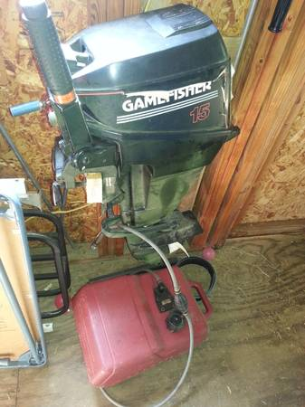 Gamefisher boat motor 15hp - $150 (Nacogdoches)