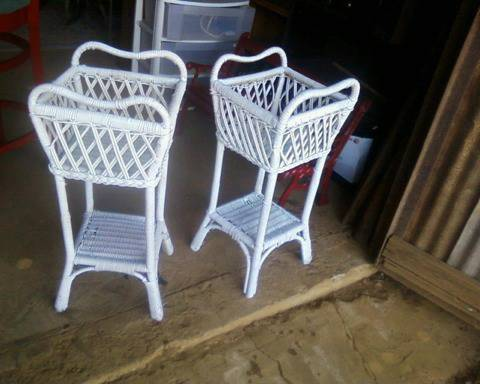 2 Wicker Plant stands - $20 (Nacogdoches)