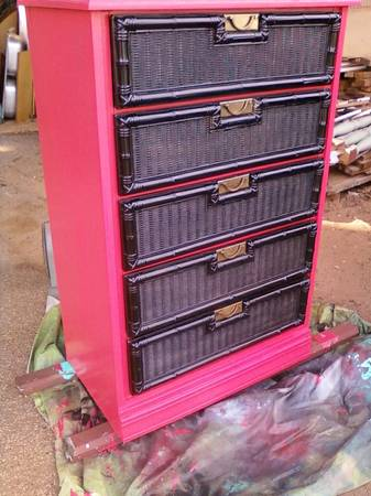 Coral and Black Chest of Drawers -   x0024 75  nacogdoches