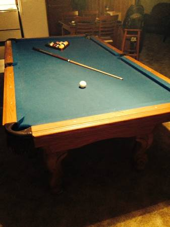 8 ft - 3 pc Slate Pool Table with Accessories -   x0024 600  Sulphur Springs
