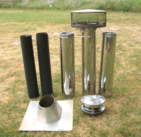 6 x 36 SELKIRK METALBESTOS STOVE PIPE MORE - $400 (TIMPSON, TEXAS)