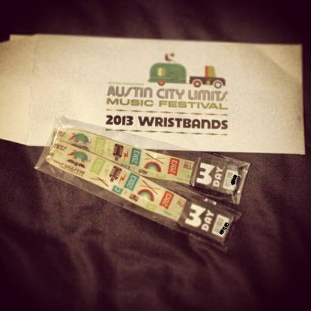 ACL Austin City Limits weekend 1 OCT 4-6  2 wristbands  -  225  Fort Worth