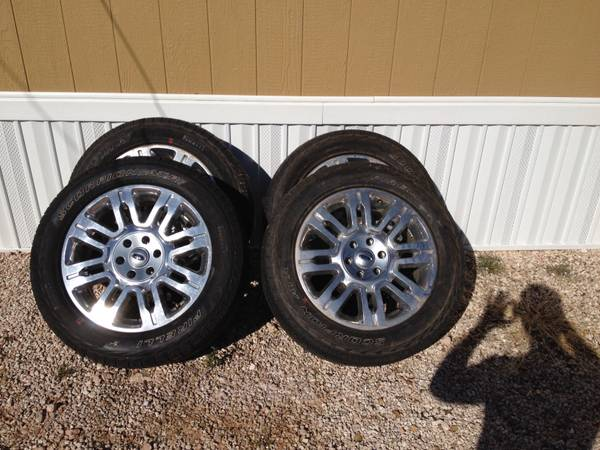 2012 F150 Platinum Oem wheels and tires - $1000 (Center Tx)