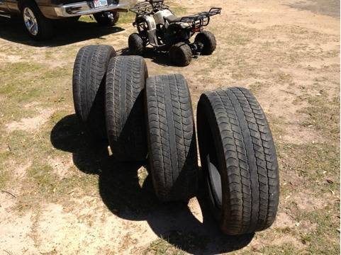 Set of 27560R20 Goodyear tires - $300 (Carthage, Tx)