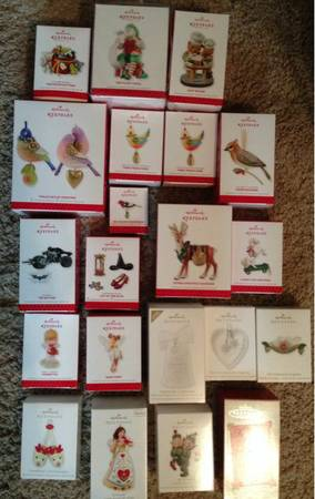 NEW HALLMARK 2013 ORNAMENTS-KOCLMTD EDTNHARD TO FIND - $250 (75070)