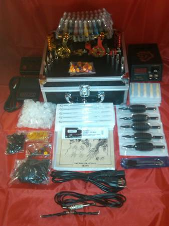 40 inks... 2 machine tattoo kit w case - $110 (wichita falls)