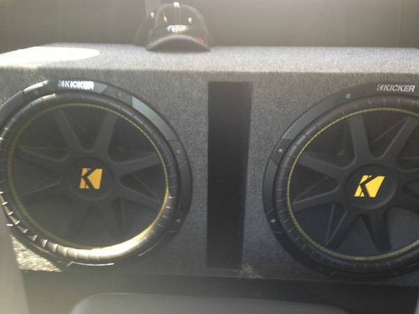 2 kicker 15 comps in a ported box with an alpine mrp500 - $300 (Lufkin)