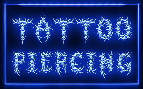 ( Tattoo Piercing ) Neon LED Sign - $55 (5neon.com)