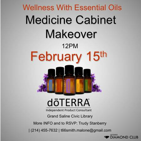 Free Essential Oils Seminar - Take control of your health  Grand Saline Civic Library