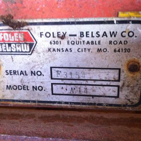 SAW MILL FOLEY BELSAW - $12000 (sherman texas)