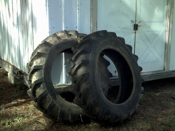 NEW  PAIR TRACTOR TIRES 12.4X28 - $350 (LUFKIN BALD HILL)
