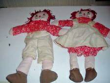 Vintage Raggedy Ann and Andy Dolls handmade folk art  -   x0024 10  Douglass