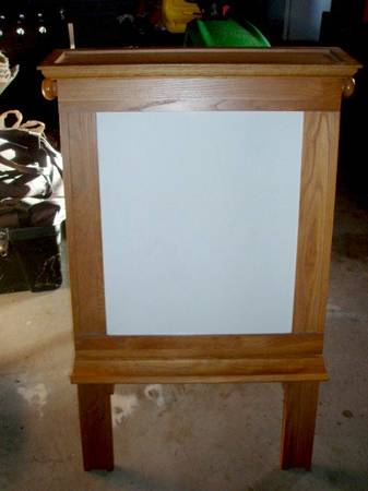 Big Easel    Dry Erase and Chalk Board      -   x0024 80  Cushing