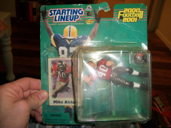 Brand new never opened Starting Lineup Mike Alstott toy -   x0024 5  East TX