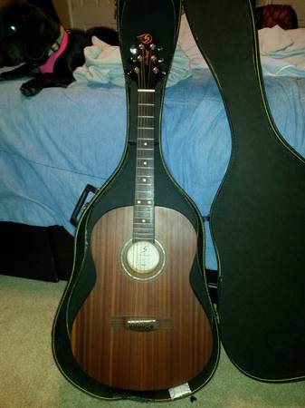 Gregg Bennett st91 acoustic guitar with case -   x0024 175