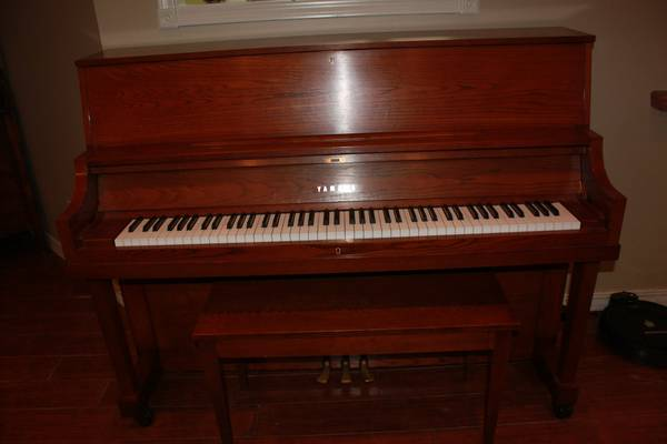 Yamaha P-22 Dark Oak Studio Piano - $3000 (Longview)