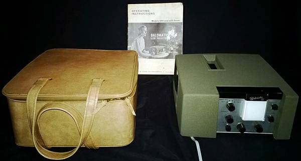 Vintage 1960 s Bausch  amp  Lomb Balomatic 655 Film Slide Projector with o -  45  Colmesneil  TX