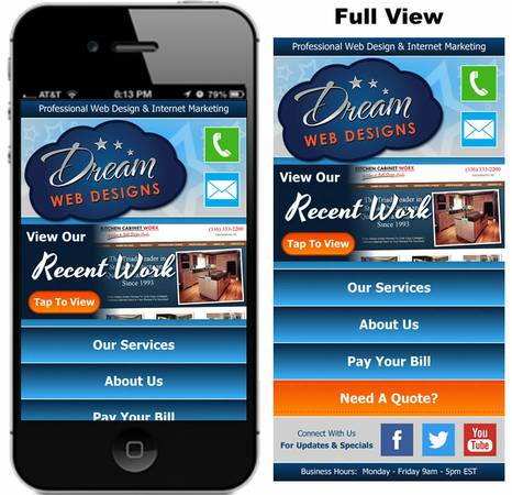 Want a Mobile Web Site to Increase Your Business   Shreveport  LA