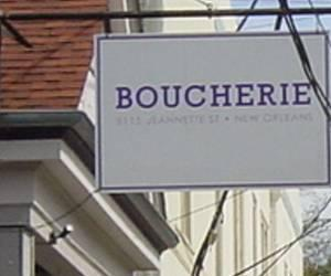 Boucherie - 8115 Jeannette St New Orleans  LA 70118 - Ph 504 862-5514