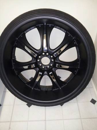 black and chrome 24 rims -   x0024 450  new orleans