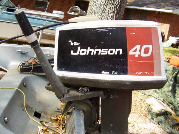 2 40 HP 1976 Model Johnson And Evinrude Tiller Outboards