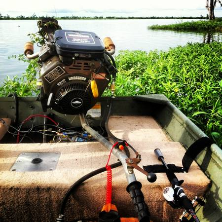 14 Foot Boat With 23 hp Go Devil - $3500 (Ponchatoula La)