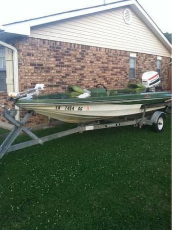 TideCraft 16 bass boat 115 Johnson READY FOR THE WATER - $3000 (Laplace, la)