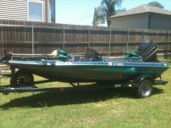 94 16foot Tidecraft bass boat for sale - $4000 (New Orleans)
