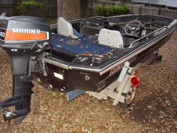 1987 Glasstream 1550 Pro Bass Boat - $1450 (Biloxi)