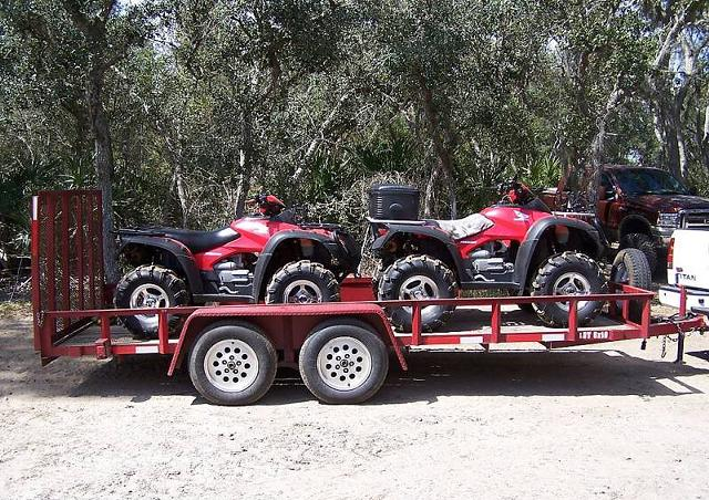 2 250  Two ATVs 2006 Honda Rincon with Trailer
