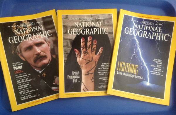 National Geographics 1980-1992 - $20 (Metairie)
