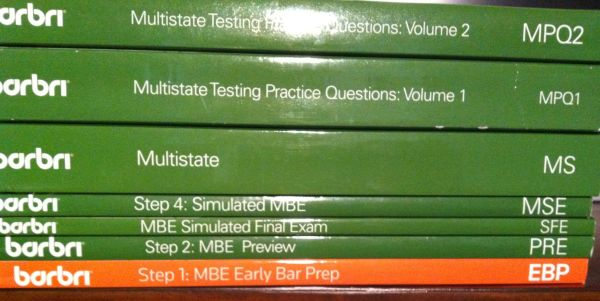 Barbri MBE Bar Prep Books - $200