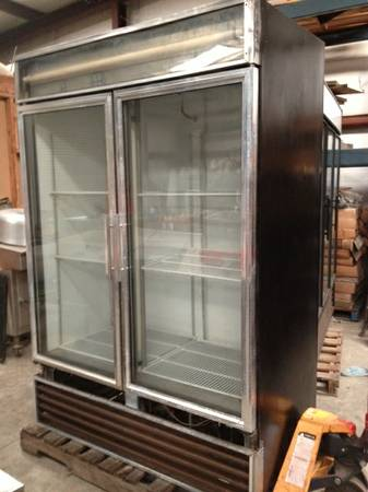 2 Door Glass True Cooler - $950