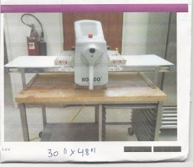 Sheeter Rondo reversible dough sheeter (addl Stainless steel table) - $4900 (Norco )