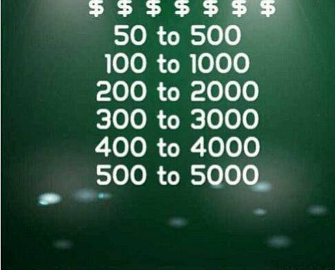 QUICK MONEY 100 - 1000 500 TO 5000