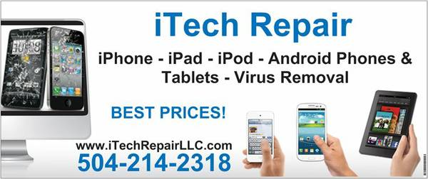 iTech Repair - iPhones, iPads, Android, PCs, XBOX, PS3 (Mandeville)
